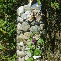 Rock column in summer