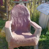 Red chair repaired
